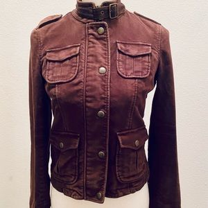 Abercrombie and Fitch Chocolate Brown Moto Jacket